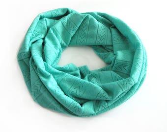 Spring Scarf/ Loop Scarf / Circle Scarf / Mom Boho Gift / Chunky Scarf / Infinity Scarf / Easter Scarf / Girlfriend Gift Boho Tribal Scarf