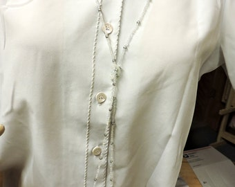 So Light and X-tra Long Glass Necklace .... Instead of wearing nothing at all ...  about 50 inches long