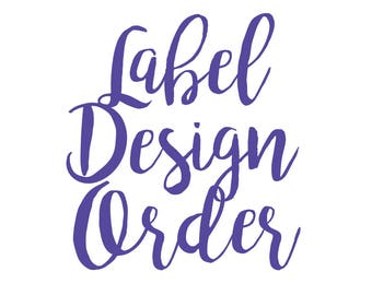 SPECIAL Label Design Required - Only use if you require a different design