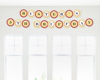 Summer BBQ - Hot Diggity Dog Party Garland Banner - Custom Printed Barbecue Decorations