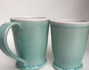 Simple dot mugs