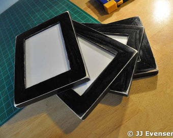 Set of 4 11x14 Picture Frames with Acrylic Glass Backing and Mounting Hardware