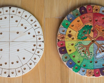 Paint your own Waldorf style calendar - perpetual calendar - unfinished wood ring calendar