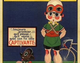 Captivante Bicycle Poster (#0909) 6 sizes