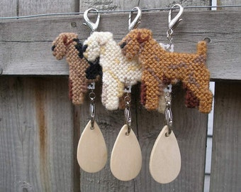 Lakeland Terrier crate tag dog, hang anywhere, hanger decor sign name tag, Choose your color, Magnet Option