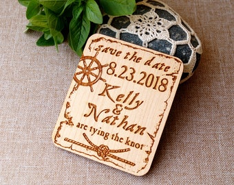 Wooden save the dates, set of 25 pcSave the date - nautical save the dates - rustic save the date magnets - beach wedding save the dates -
