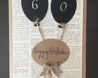 Happy birthday card, handmade,happy birthday