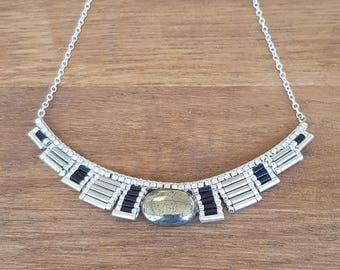 Osiris silver Pyrite NECKLACE