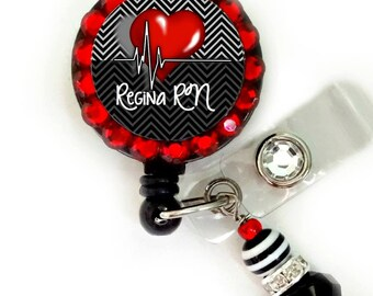 Custom Medical ID badge reel, Nurse, cna, lpn, etc (E207)