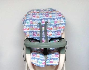 Graco candy jars high chair cover, baby accessory, cotton replacement baby and kids furniture child chair pad, chair cushion, sweet shop