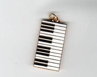 Enameled Keyboard Piano Pendant 24 Keys