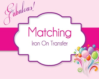 Iron-On T-Shirt Transfer - Custom T-Shirt Transfer - Match Any Invite in Shop
