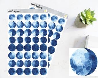 Mond-Phase Aufkleber • Mond Tracker Symbole • Mond Zyklus Aufkleber für glücklich Planner, Erin Condren, Bullet Journal • tägliche Tracker Mond Decals