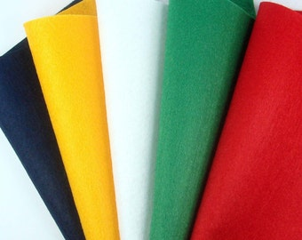 5 Colors Felt Set - Christmas - 20cm x 20cm per sheet