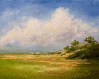 "Golden Marsh, 11"" x 14""  Oil Painting on Canvas"