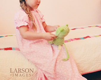 Colorful and Sweet Shirred Nightgown sizes 2-8 Labor Day Sale August 31 - Sept 4