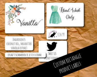 Product labels, Custom stickers, personalised, rectangle labels, custom labels , business stickers, custom sticker, logo labels, packaging