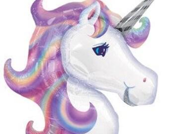 Unicorn Tassel Balloon. Pink Purple Blue Unicorn Party Decor. 1st Birthday Decor. Bachelorette Party.  Baby Shower Decoration
