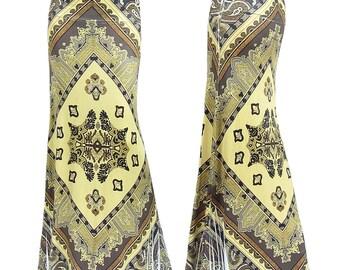 Moroccan Boho Sublimation Maxi Long Skirt Sizes Small/Medium/Large/XL/1XL/2XL/3XL