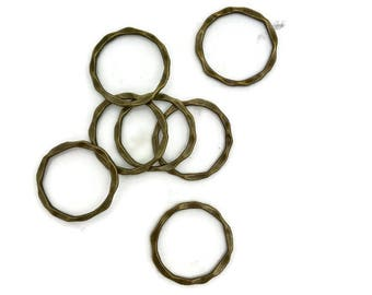 10 linking jewelry rings antique bronze 22 mm