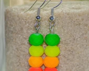 Neon Lights - Dangle Earrings