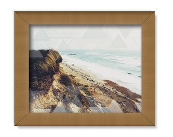 CLIFF SIDE, ocean photography, ocean art print, beach print, triangle design, geometric print, summer photo, california beach art, cliffside