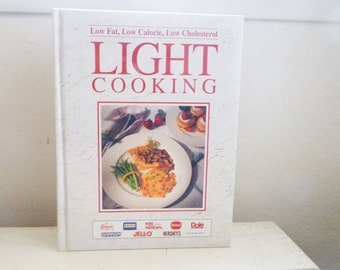 Light cooking cookbook, best cookbook, healthy eating, low calorie cooking, wedding present, housewarming gift, recipe book, kitchen, dining