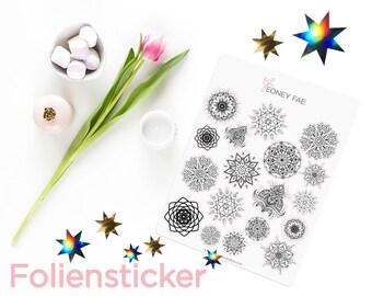 Foiled Mandala Madness Stickerset-Watercolour sticker-Pretty planning-scrapbooking-bullet journaling