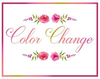 DIY Template Color Change Request