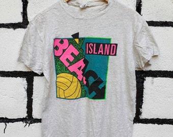Vintage Calvin Klein Tshirt Island Beach Maui Hawai Kauai