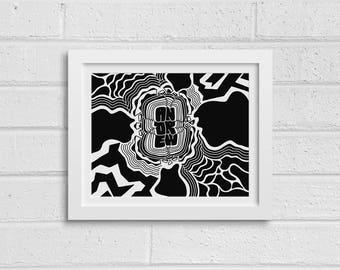 Andrew - Abstract Desktop Wallpaper, Digital Download, Print at Home, Custom Graffiti Art, Coloring Page, Names Project