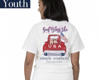 Simply Southern®  Yth-PREPPYUSA-WHITE