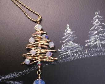 Petite Gold Christmas Tree Necklace, Gold  Tree Necklace, Gold Necklace, Gift for Her, Christmas Gift, Solstice Gift, Holiday Jewelry