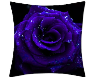 Gothic Blue Rose Cushion Cover (C139)