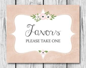 Favors Sign, Printable Wedding Sign, Wedding Sign, Wedding Signage, Wedding Decor, Wedding Signage