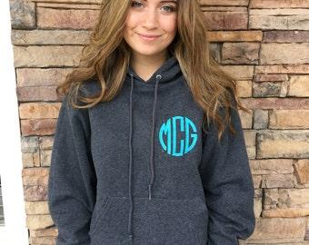Monogrammed Hoodie Sweatshirt / Personalized Sweatshirt / Monogram hoodie / Gift /