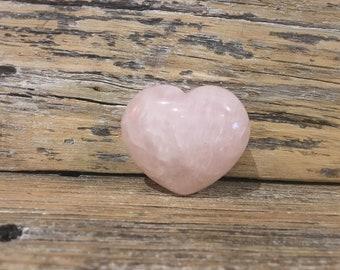 Crystal Heart Rose Quartz 40mm