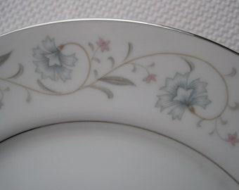 Vintage English Garden Platinum by Fine China of Japan Dinner Plates