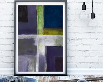 Navy blue abstract art print modern wall art contemporary wall decor abstract painting grey abstract art modern art contemporary art