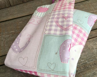 Wheat bag, Heat pack warmer,Hottie,cool pack,handmade in pink elephant cotton