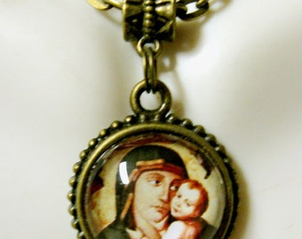 Madonna and child necklace - AP17-614 - 50% OFF