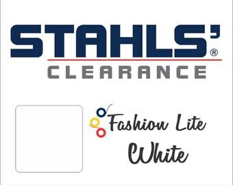 "15"" x 5 Yards - Stahls' Fashion-LITE - Smooth- Craft Roll - Iron-on  Heat Transfer Vinyl - HTV - White"