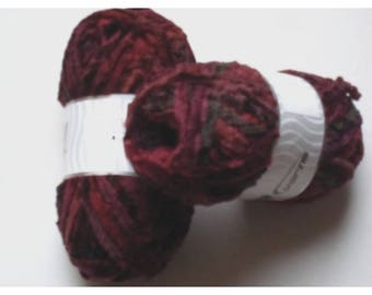 Burgundy Brown 22595 Bulky Chenille yarn 200gr