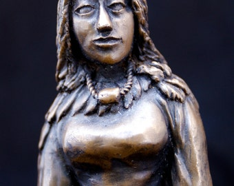 Bronze Freyja statue - Norse goddess of love, beauty, sexuality, fertility and death