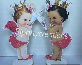 Cupid baby centerpiece