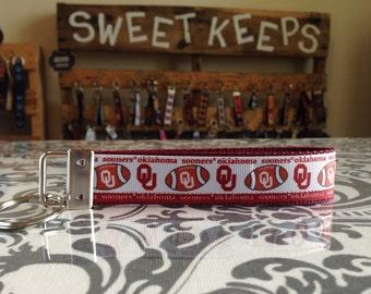 Oklahoma Sooners Inspired Keychain Wristlet