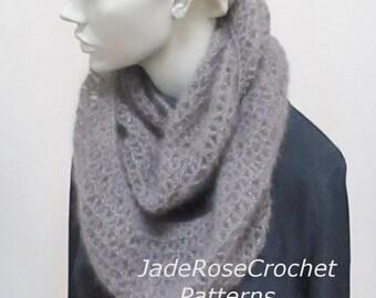 Crochet Scarf Pattern, Crochet Cowl Pattern, Crochet Infinity Scarf Pattern, PDF242