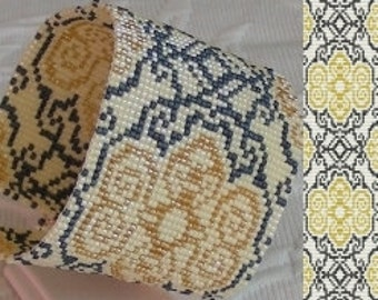 3 Patterns for 1 Price - Damask Cuff Bracelets Loom Bead Patterns