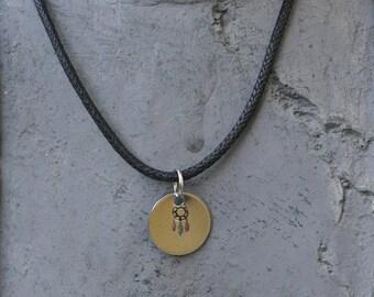 Engraved Dreamcatcher Necklace