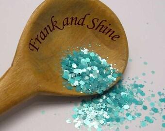 Mint Haze solvent resistant nail glitter mix